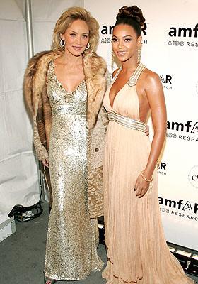 Sharon Stone y Beyoncé Knowles