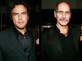 Alejandro González Iñárritu y Guillermo Arriaga (der.).
