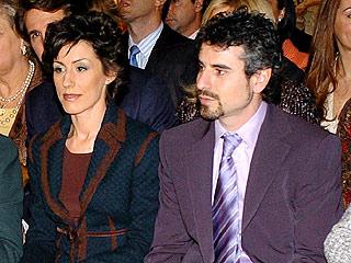 Erika Ortiz y su ex marido, Antonio Vigo, en el bautizo de la infanta Leonor, el 13 de enero de 2006.