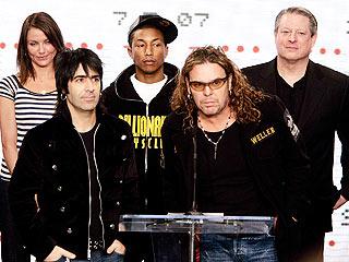 Cameron Díaz, Alex González, Pharrell Williams, Fher Olvera y Al Gore.