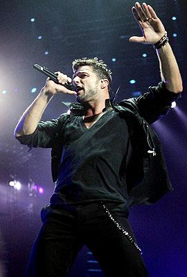 Ricky Martin en concierto en Puerto Rico.