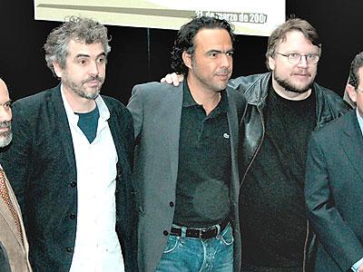 Alfonso Cuaron, Alejandro Gonzalez Iñarritu y Guillermo del Toro