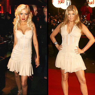 CHRISTINA AGUILERA AND FERGIE