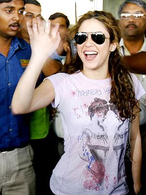 Shakira en la India.