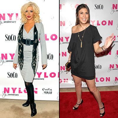 Christina Aguilera y Jamie Lynn Sigler