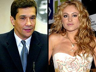 Ángelo Medina y Paulina Rubio