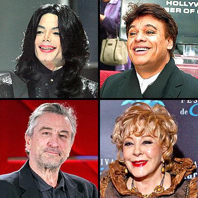 Michael Jackson, Robert De Niro, Juan Gabriel y Silvia Pinal
