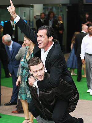 Antonio Banderas y Justin Timberlake