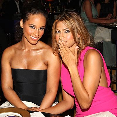 Alicia Keys y Eva Mendes