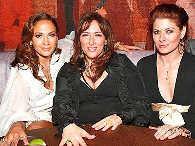 Jennifer Lopez, Lorraine Schwartz y Debra Messing