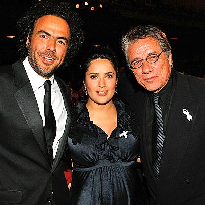 Alejandro Gonzalez Inarritu, Salma Hayek and Edward James Olmos