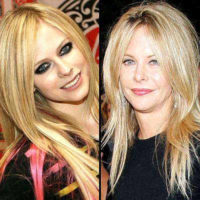 Avril Lavigne y Meg Ryan
