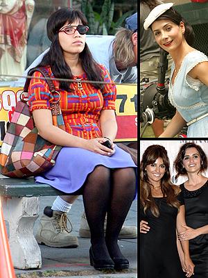 principal America Ferrera, Paty Materola y Penelope Cruz con Monica Cruz