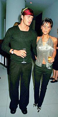 David y Victoria Beckham en 1999