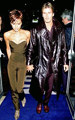 David y Victoria Beckham en 2000