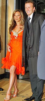 David y Victoria Beckham en 2004