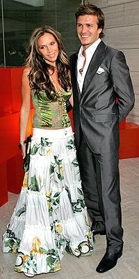 David y Victoria Beckham en 2005