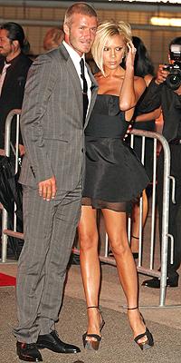 David y Victoria Beckham en 2007