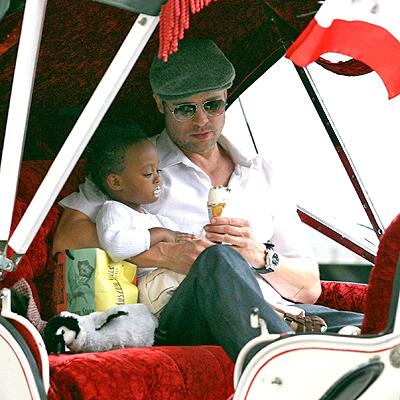 Brad Pitt y Zahara Jolie-Pitt