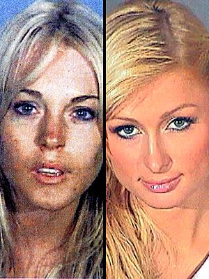 principal mugshots Lindsay Lohan and Paris Hilton