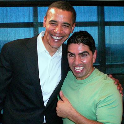Piolin y Barack Obama