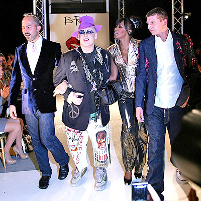 Boy George y Naomi Campbell