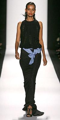 Model in Carolina Herrera fashion show