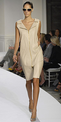 Model in Oscar de la Renta fashion show