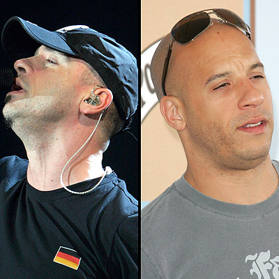EROS RAMAZZOTTI (LEFT) AND VIN DIESEL
