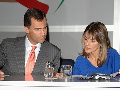Prince Felipe y Princess Letizia