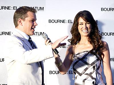 Matt Damon con Jacqueline Bracamontes