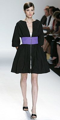Model in Narciso Rodriguez fashion show