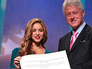 Shakira & Bill Clinton