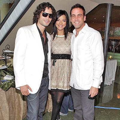 Candela Ferro con Khotan Fernandez y Carlos Ponce