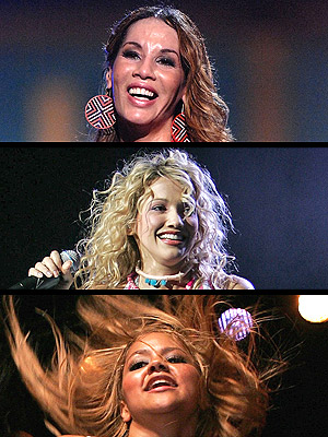(De arriba a abajo) Ivy Queen, Fanny Lú y Kat DeLuna encabezaron FIESTA 2007