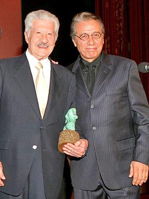 Ignacio Lopez Tarso y Edward James Olmos