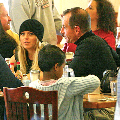 Lindsay Lohan con padre