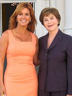Maria Celeste y Laura Bush