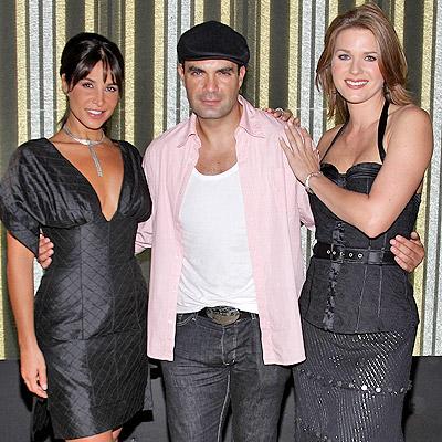 Mauricio Islas con Lorena Rojas y Sonya Smith