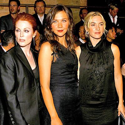 Julianne Moore, Maggie Gyllenhaal y Kate Winslet