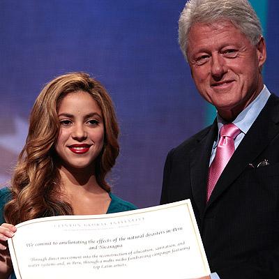 Shakira y Bill Clinton