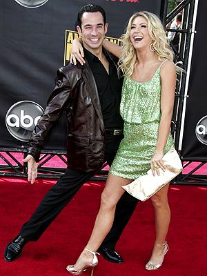 Helio Castroneves y Julianne Hough