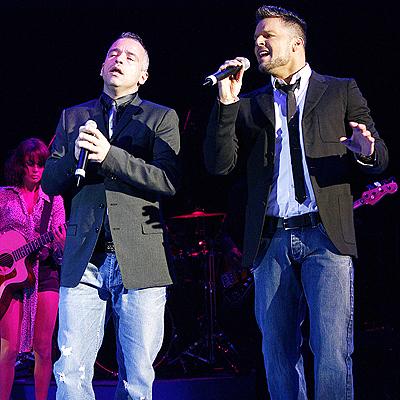 Ricky Martin y Eros Ramazzotti