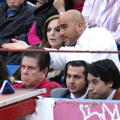 Hector Suarez Gomis con Erika Swain