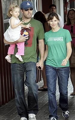 Jennifer Garne, Ben y Violet Affleck