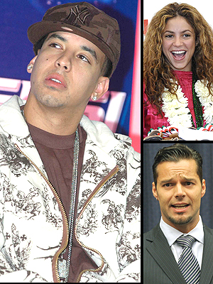 principal Daddy Yankee, Shakira y Ricky Marin