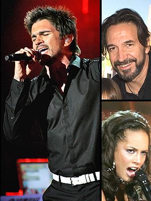 principal Juanes, Marco Solis y Alicia Keys