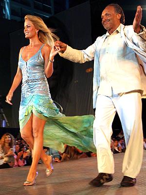 Cecilia Bolocco y Roberto Giordano