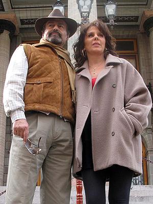 Rebeca Jones y Gonzalo Vega