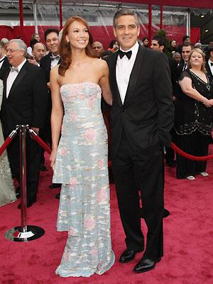 Sarah Larson and George Clooney